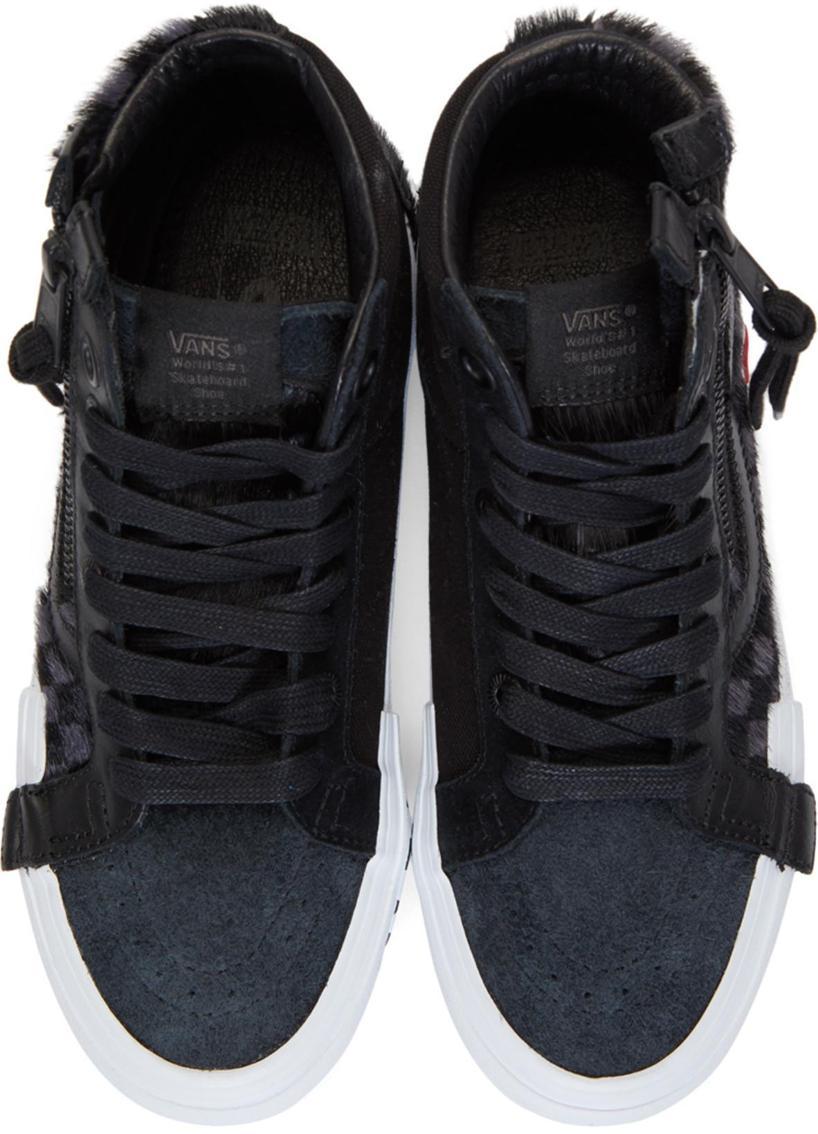 5c050fc652ac VANS Vans Black Vault Pony Hair Sk8-Hi Cap Lx Sneakers