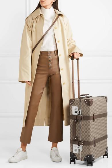81cd4358ce64 Joseph Carbon Hooded Cotton-Garbardine Trench Coat In Beige