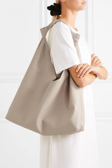 cf4b54f3f25a The Row Bindle Double-Knot Leather Shoulder Bag - Ivorybone In White ...