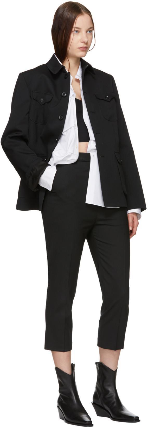 8d29f0a0fc8 ANN DEMEULEMEESTER Ann Demeulemeester Black La Fille Do Edition Jersey  Bralette