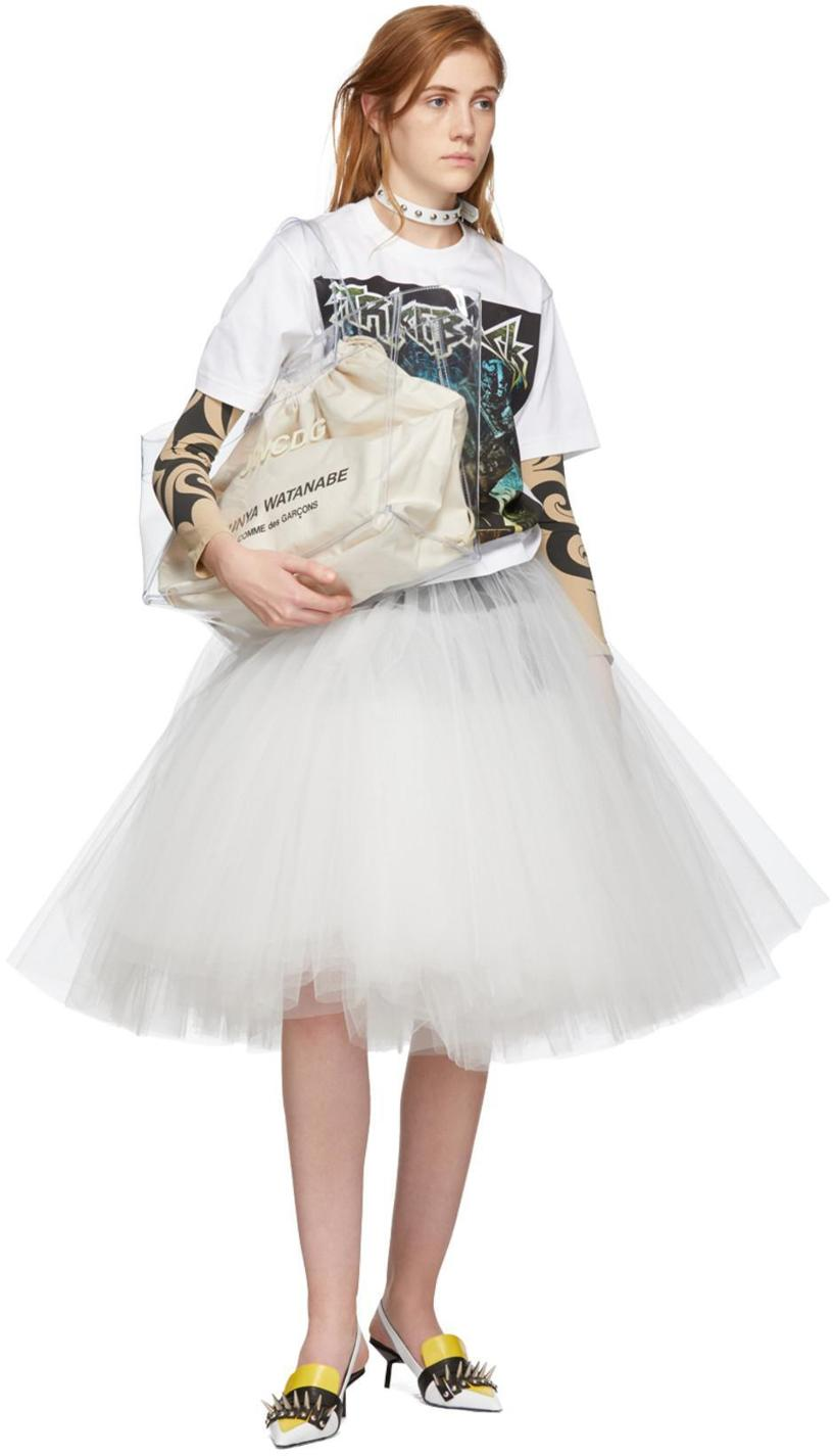 1a08a7d282 JUNYA WATANABE Junya Watanabe Black And White Tulle Skirt in 1 Black/Wht