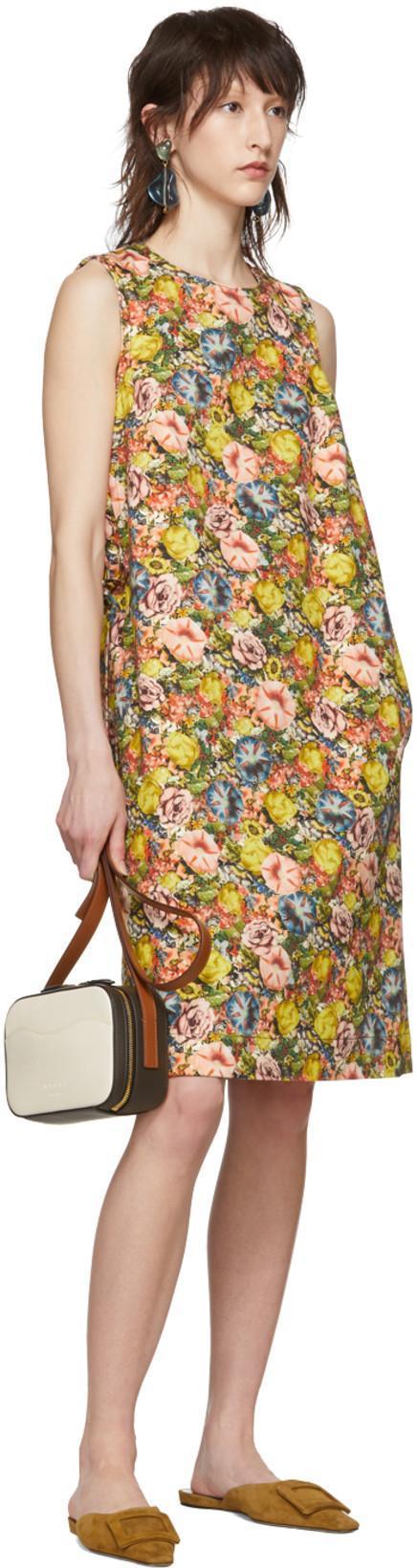2ea7c9d10 Marni Multicolor Flowers A-Line Dress In Ely48 Acid   ModeSens