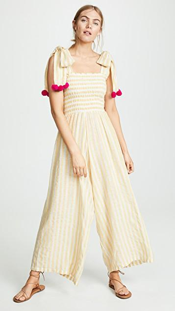 a893211882d Sundress Pippa Jumpsuit In Portofino Yellow Pink