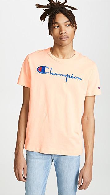 04da19cf Champion Men's Short Sleeve Crew Tee In Pink | ModeSens