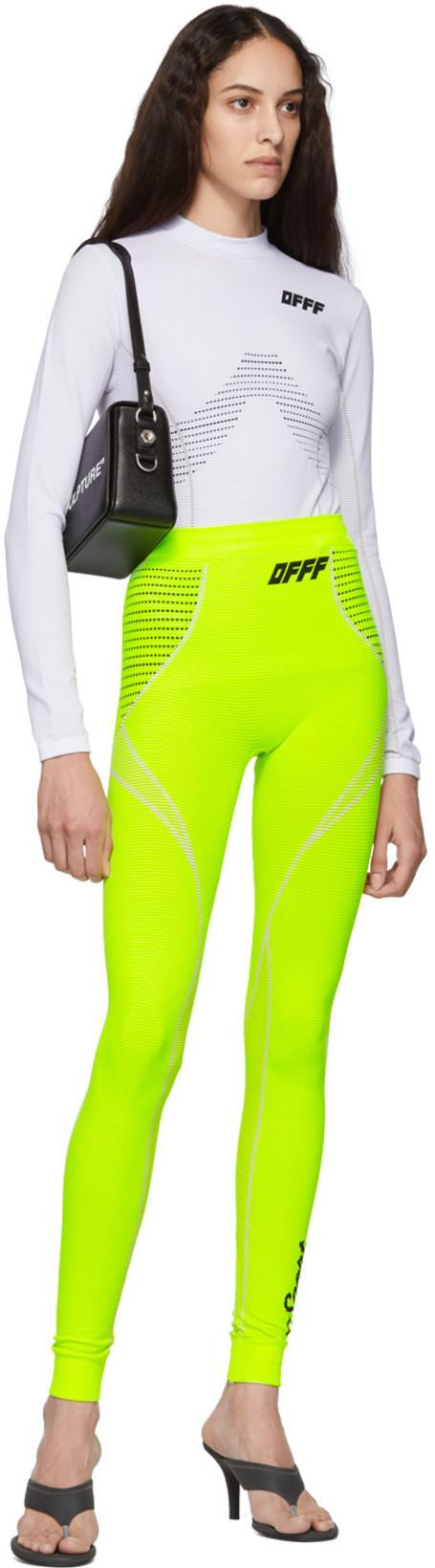 aed0ee4d Off-White Yellow Athletic Leggings In Green | ModeSens