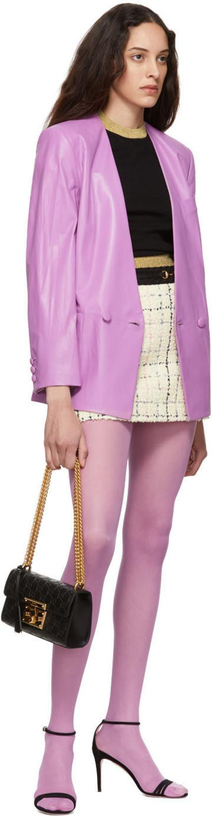 bac13fdf1 Gucci Oversize Leather Jacket In Lilac | ModeSens