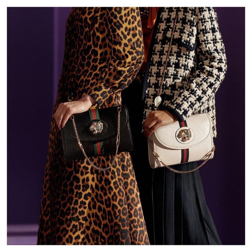 a2f00208c0361c Gucci Mini Rajah Leather Crossbody Bag - Black | ModeSens