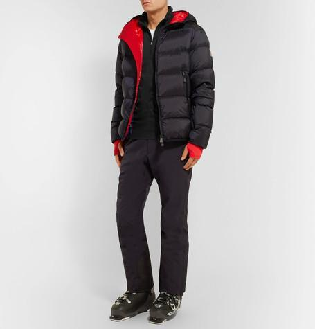 a3d6dbe26 Moncler Grenoble Hintertux Quilted Shell Hooded Jacket In Navy/Red ...