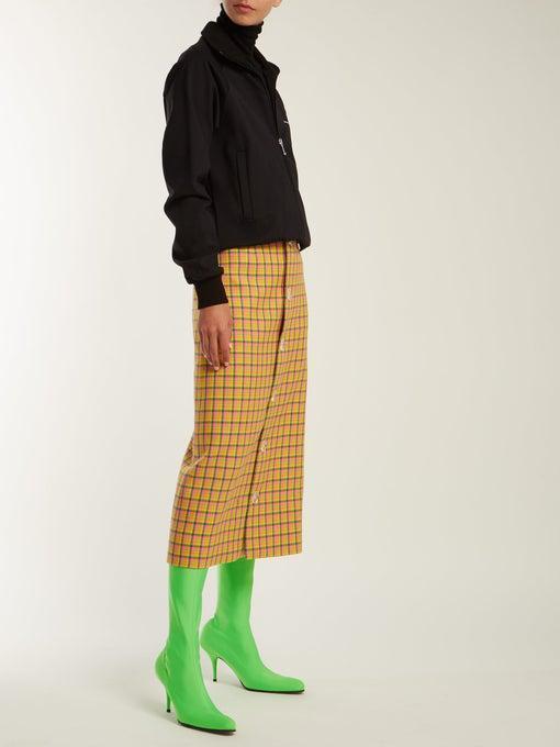 6ef7c058a BALENCIAGA Balenciaga - Over The Knee Sock Boots - Womens - Green