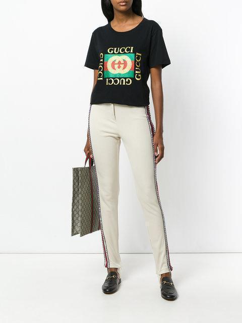 c493260d622 GUCCI Gucci Black Tiger Logo T-Shirt in 1948 Black